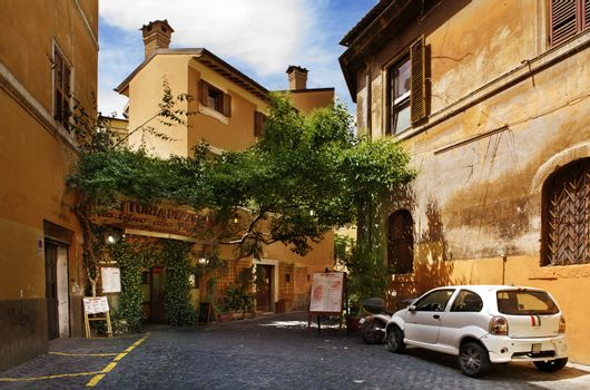 restaurant in a typical  streets of Roma