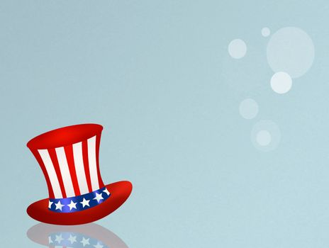 illustration of American hat for July 4th