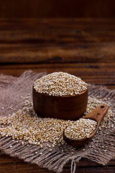 Heap of quinoa seeds