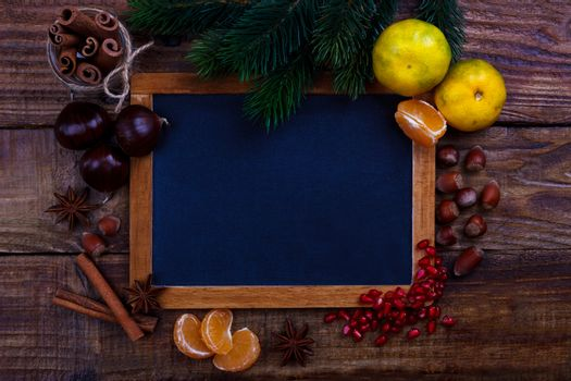 Christmas ingredients background