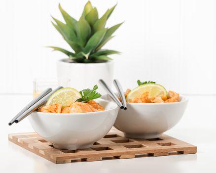 Bowls of Pad Thai