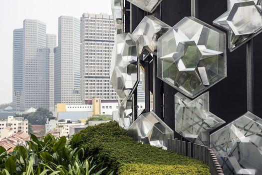 Unique glass roof background