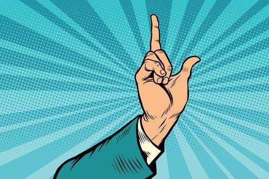 index finger up gesture