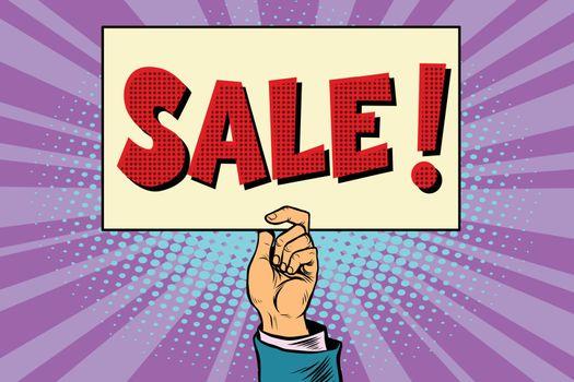 hand sale, billboard