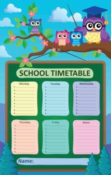 Weekly school timetable subject 6