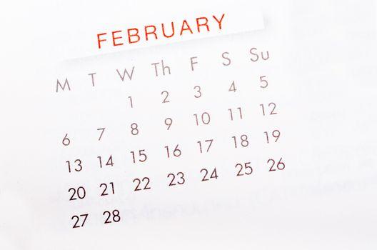 February 2017 calendar page.
