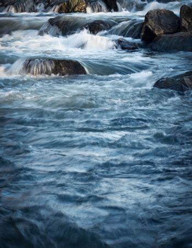 Wild small river cascade