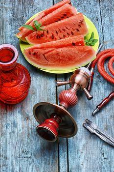 Hookah with taste watermelon