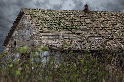 Old Barn Under Stormy Skies