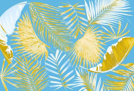 leaf of palm tree background