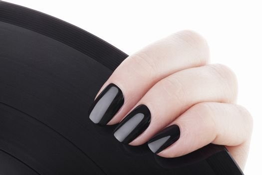 Black nails .