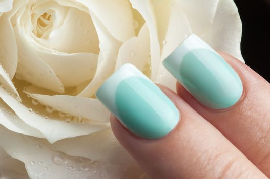 Beautiful nails and flower.