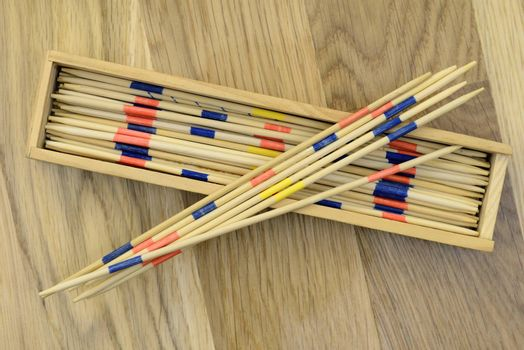 Pick-up sticks isolated.