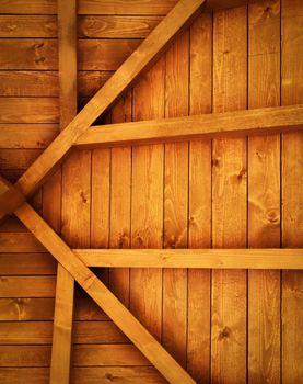 wooden roof truss detail