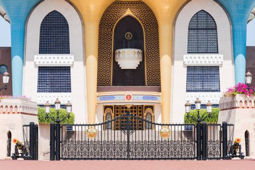 The Al Alam Palace, a ceremonial palace in Muscat, The Sultanate of Oman