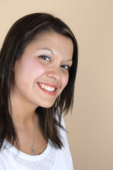 Beautiful Native American girl in studio portrait