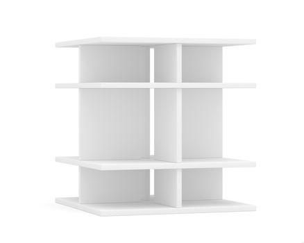 Empty shelf for exhibition