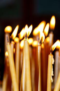 burning candlelight