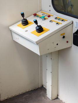 Old control panel, aviation bridge