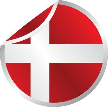 glossy theme denmark national flag
