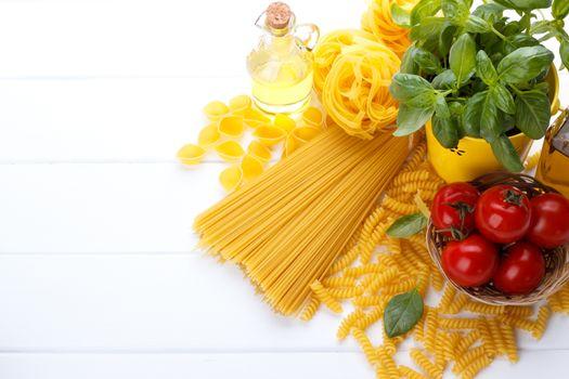 Italian pasta ingredients