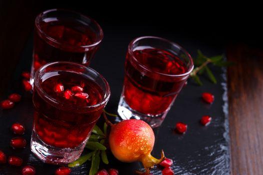 Delicious pomegranate cocktail
