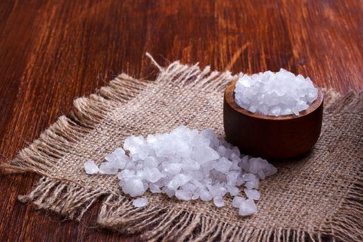 white salt crystals