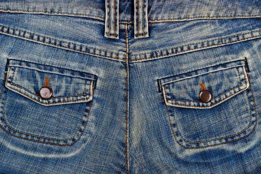 blue jeans pockets