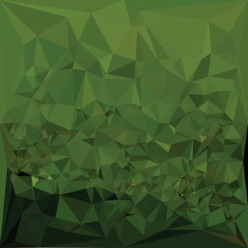Low polygon style illustration of a chlorophyll green abstract geometric background.