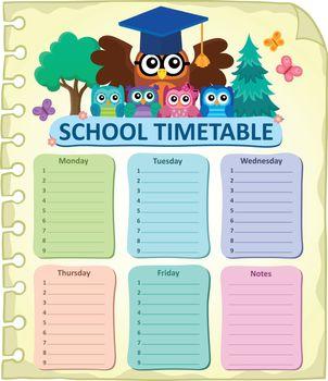 Weekly school timetable subject 7