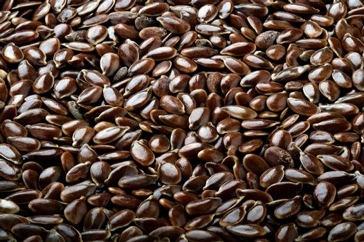 Flax seeds. Background