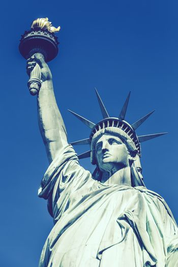 Statue of Liberty, New York, special photographic processing.