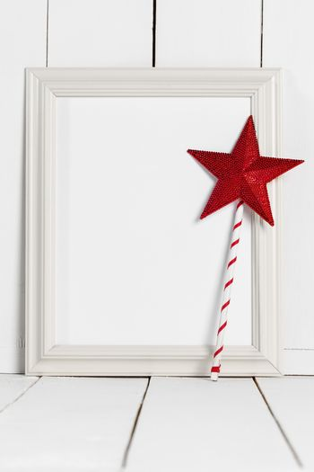 Picture frame and magic wand