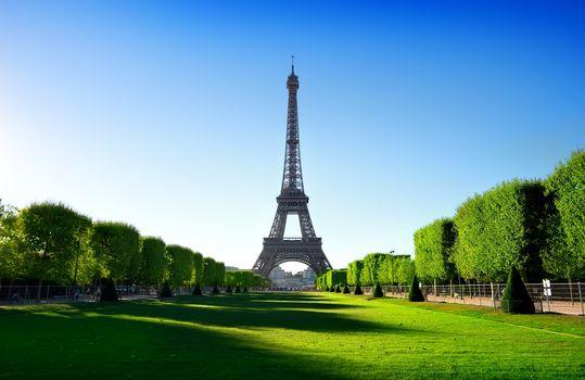 Eiffel Tower and Champ de Mars