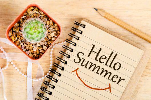 Hello summer concept.