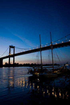 Aquitaine bridge by night Bordeaux .