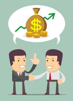 Businessmen Discussion about profit