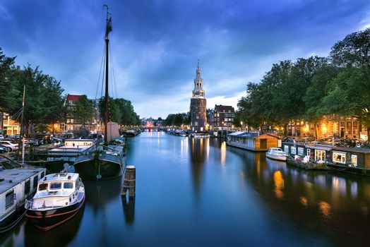 Amsterdam Canal and Light
