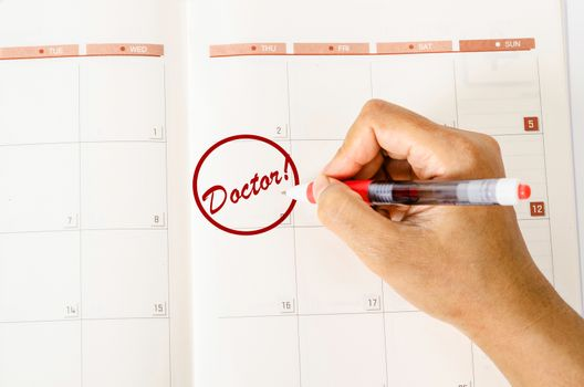 Doctor Appointment On Calendar