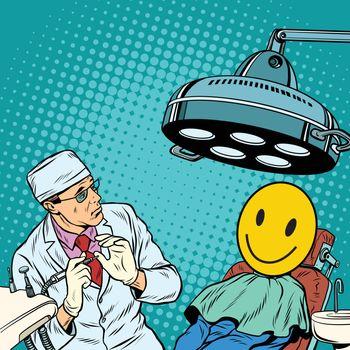 Dentist afraid happy faces