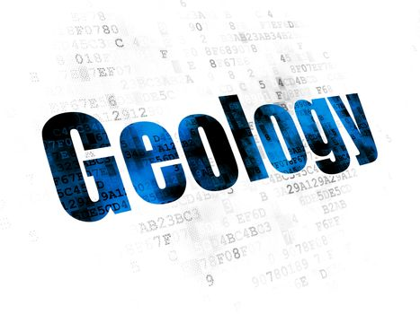 Science concept: Geology on Digital background