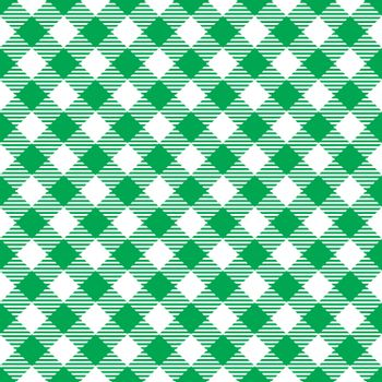 Seamless Green White Traditional Gingham Pattern Fabric Texture for Design
