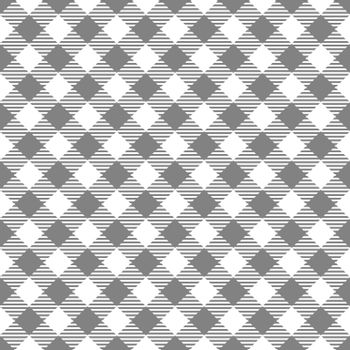 Seamless Gray White Traditional Gingham Pattern Fabric Texture for Design