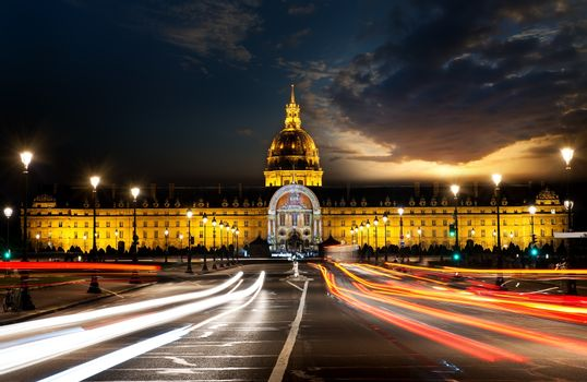 Les Invalides in evening