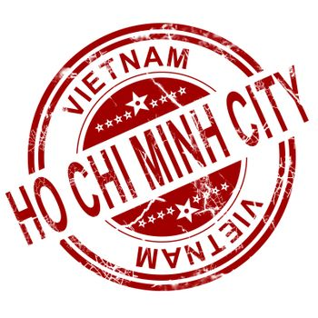 Red Ho Chi Minh City stamp