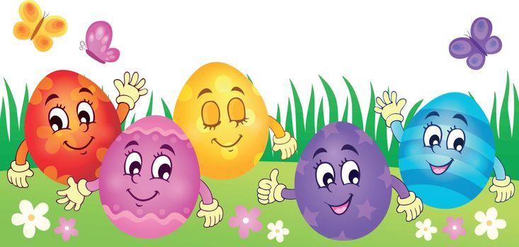 Happy Easter eggs theme image 3 - eps10 vector illustration.