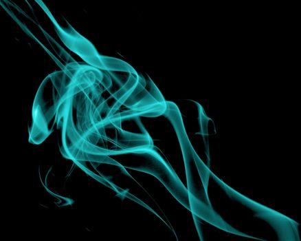 Abstract Turquoise Smoke