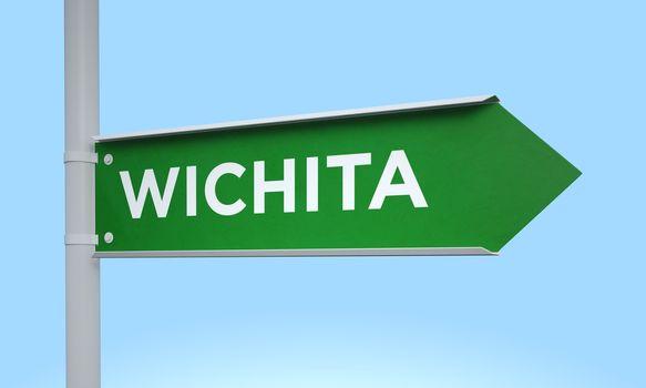 Green signpost wichita