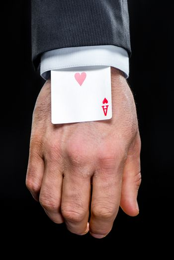 Ace of hearts in sleeve