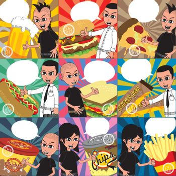 editable food and drink theme art vector graphic art design illustration